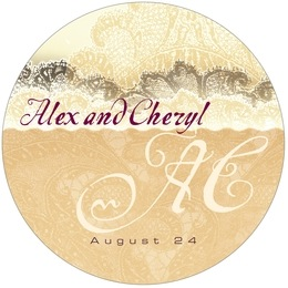 Chantilly round coasters
