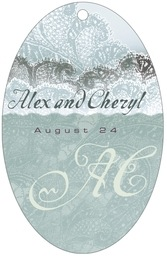 Chantilly large oval hang tags