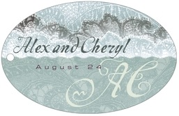 Chantilly wide oval hang tags