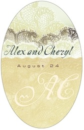 Chantilly tall oval labels