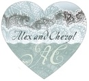 Chantilly heart labels