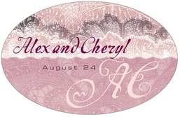 Chantilly large oval labels