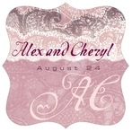 Chantilly fancy square labels