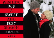 holiday cards - cherry red - cozy season (set of 10)