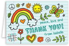 Doodle baby thank you cards