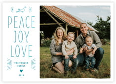 Mod Folk Photo Cards - Horizontal In Blue
