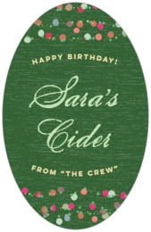 Dot Garland birthday beer labels