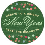 Dot Garland christmas labels