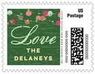 Dot Garland Small Postage Stamp In Deep Green