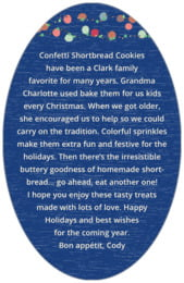 Dot Garland oval text labels