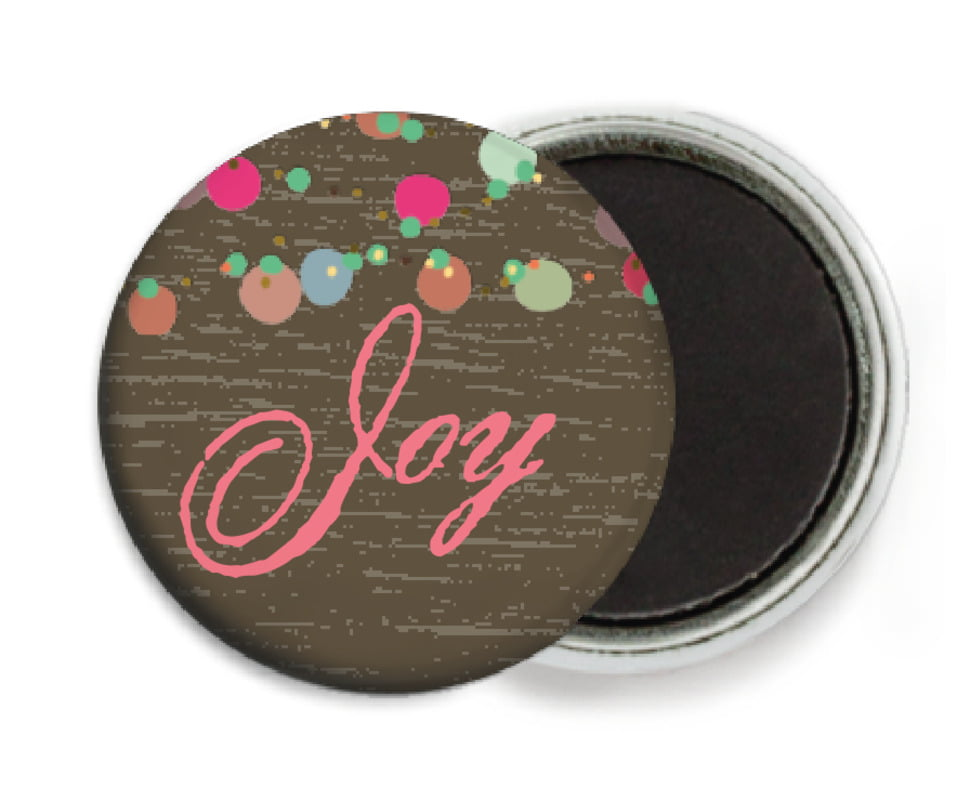 custom button magnets - chocolate - dot garland (set of 6)
