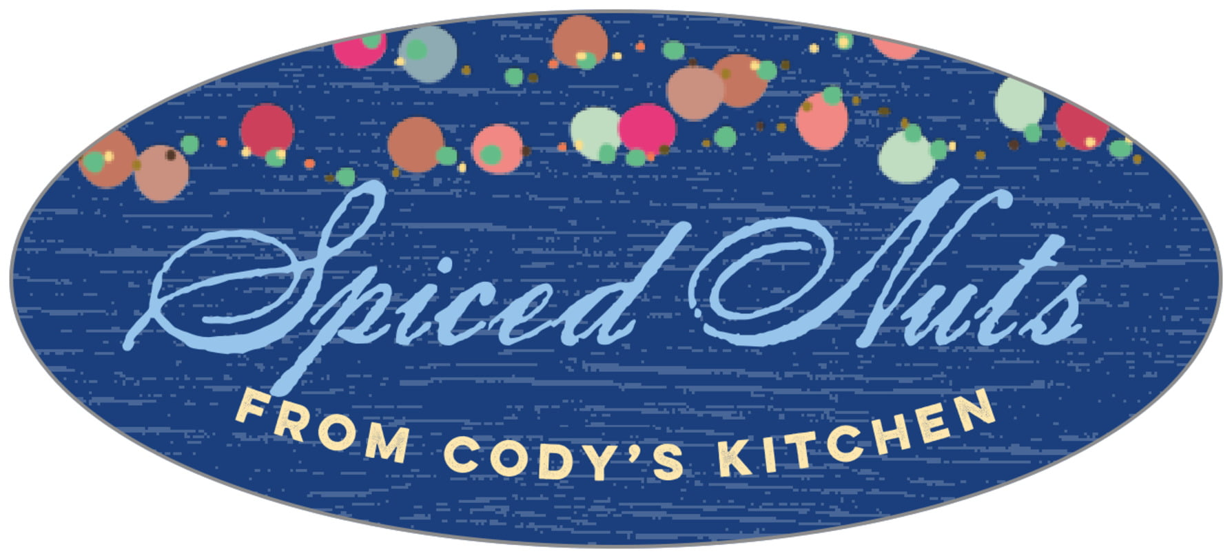 oval food/craft labels - deep blue - dot garland (set of 30)