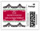 Deck the Halls small postage stamps