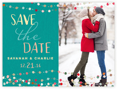 Divine Dots save the date cards