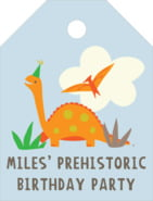 Dinosaur small luggage tags