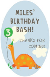 Dinosaur tall oval labels