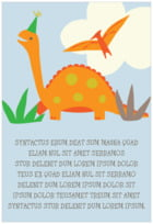 Dinosaur text labels