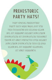 Dinosaur oval text labels