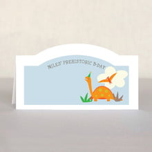 Dinosaur place cards