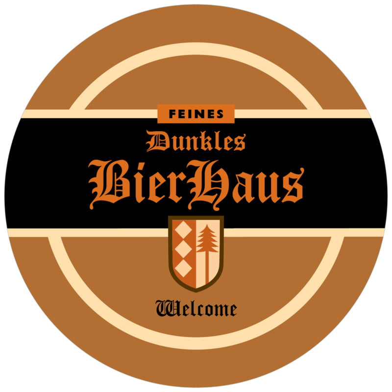 round beer coasters - brown - dresdner (set of 12)