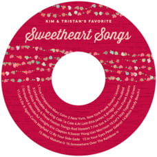 Divine Hearts wedding CD/DVD labels