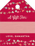 Divine Hearts Small Luggage Gift Tag In Deep Red