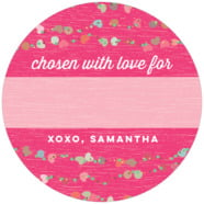Divine Hearts large circle gift labels