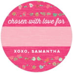 Divine Hearts small circle gift labels