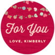 Divine Hearts small round labels