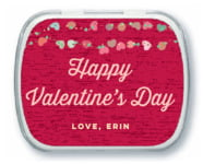 Divine Hearts Mint Tin In Deep Red