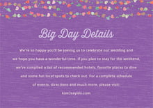 custom enclosure cards - purple - divine hearts (set of 10)