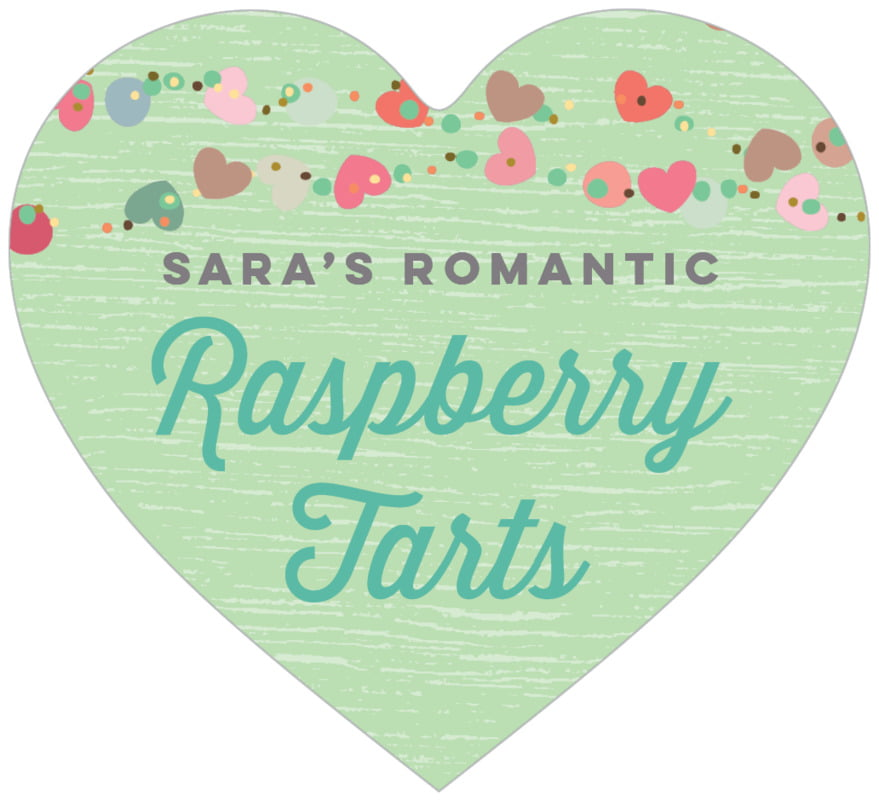 small heart food/craft labels - spring green - divine hearts (set of 20)