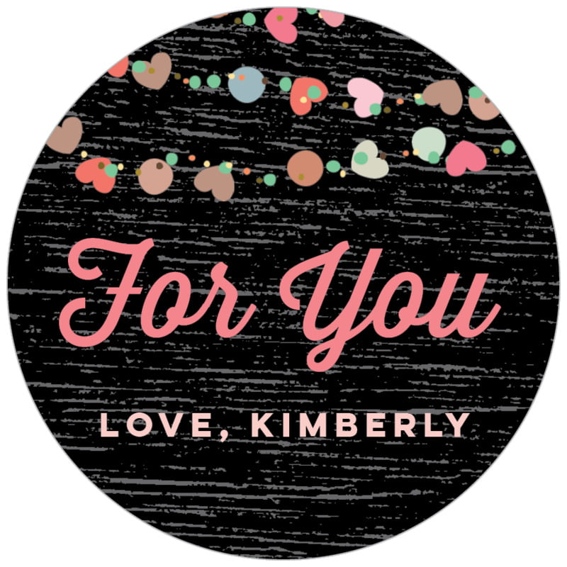 circle food/craft labels - tuxedo - divine hearts (set of 35)