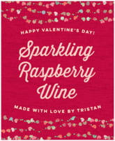 Divine Hearts holiday wine labels