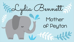 Baby Elephant business cards
