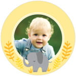 Baby Elephant circle photo labels