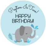 Baby Elephant circle labels