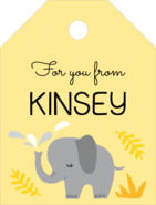 Baby Elephant small luggage tags