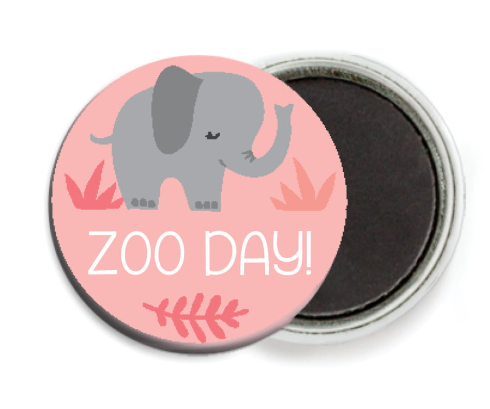 custom button magnets - grapefruit - baby elephant (set of 6)