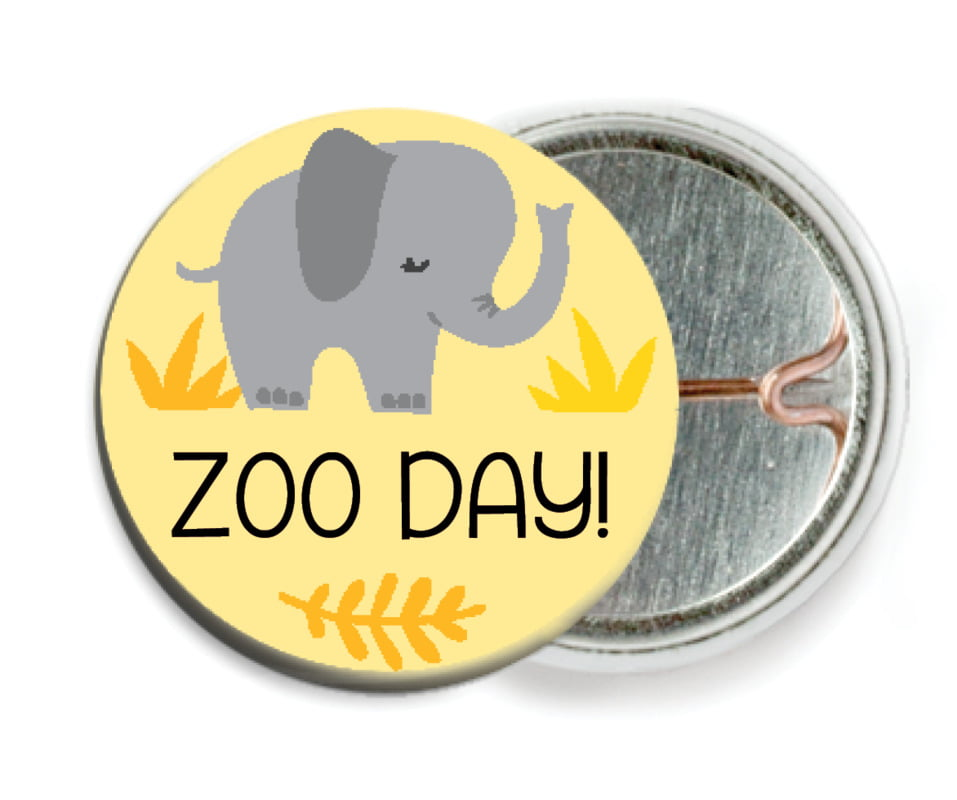 custom pin back buttons - lemon - baby elephant (set of 6)