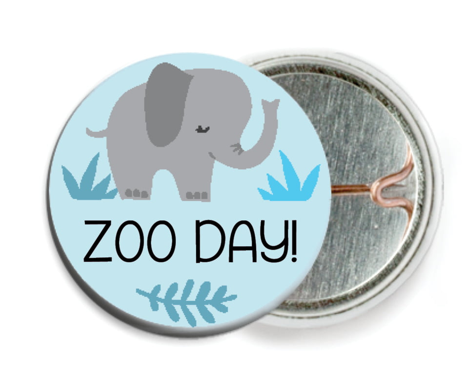 custom pin back buttons - sky - baby elephant (set of 6)