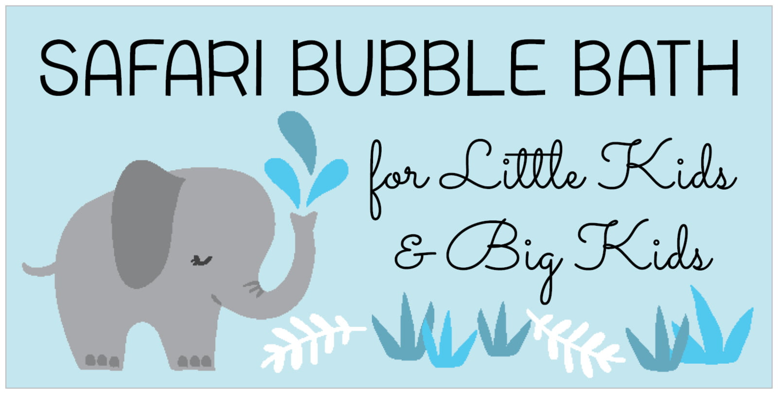 small rectangular food/craft labels - sky - baby elephant (set of 24)