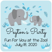 Baby Elephant baby birthday coasters