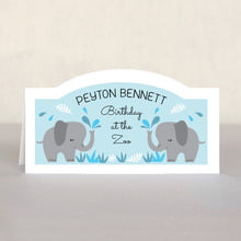 Baby Elephant Place Card In Sky