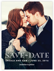 Elegant Engagement Save The Date Card In Navy
