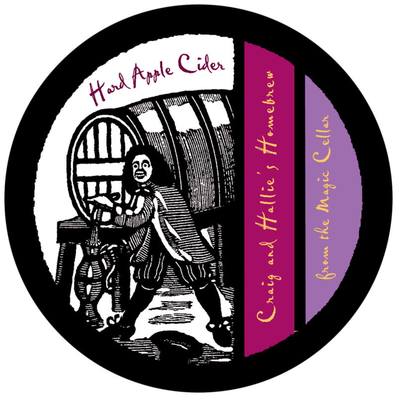 round beer coasters - purple & burgundy - elizabethan (set of 12)