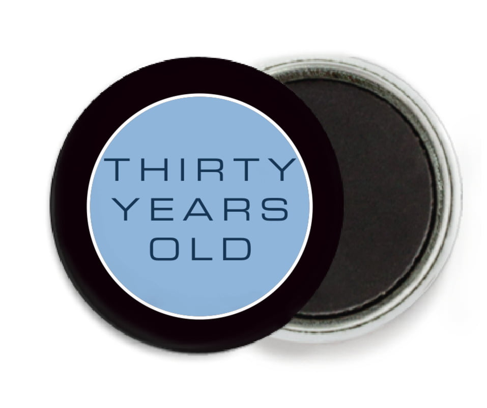 custom button magnets - blue - fifth avenue (set of 6)