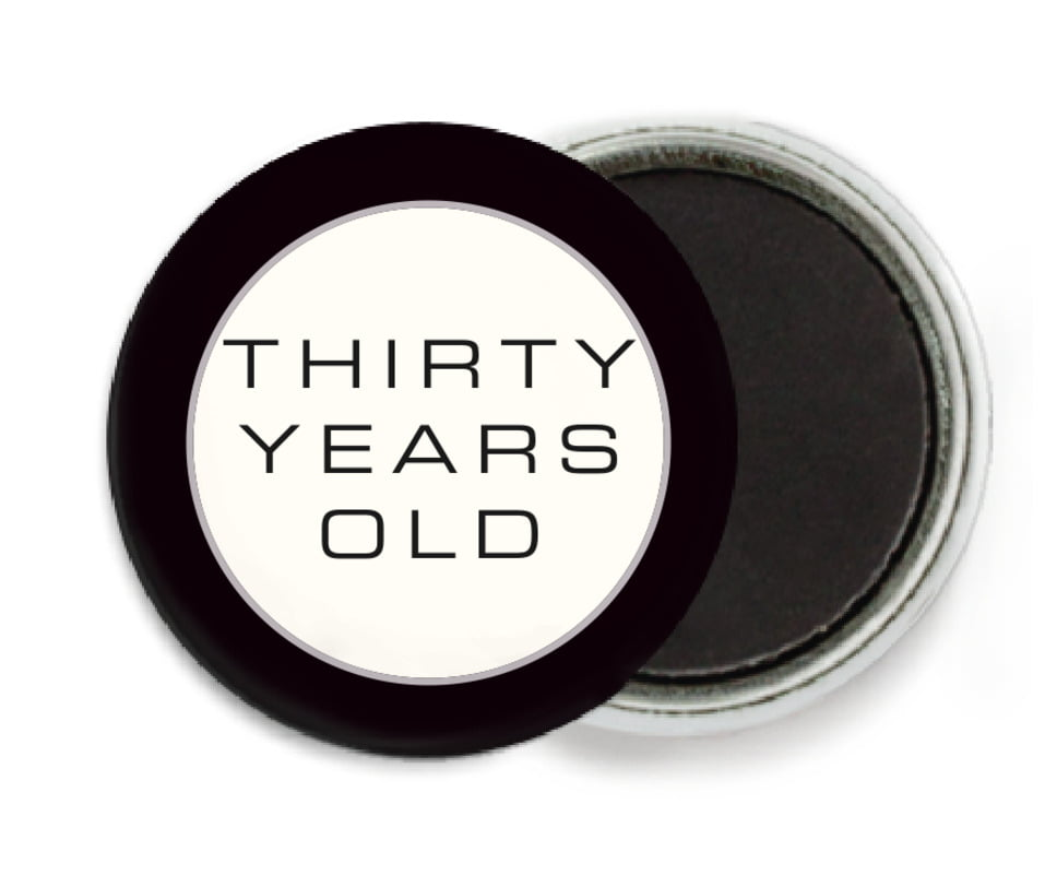 custom button magnets - tuxedo - fifth avenue (set of 6)
