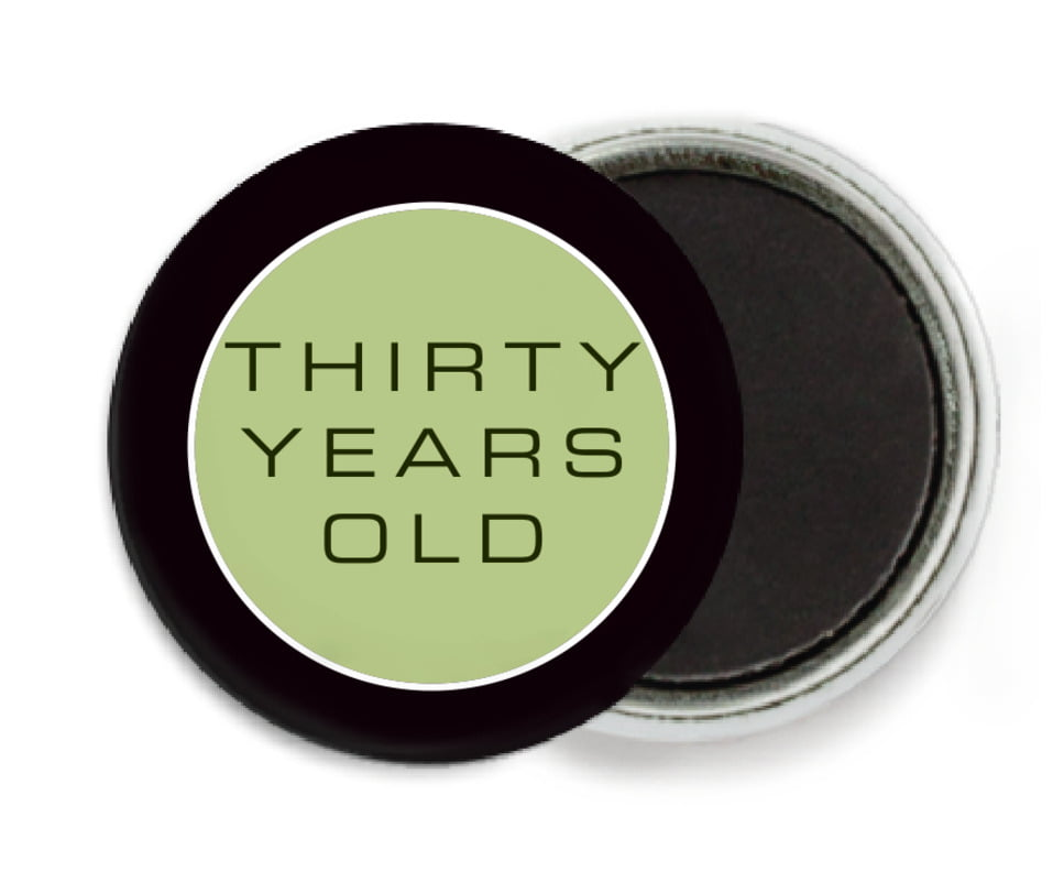 custom button magnets - green tea - fifth avenue (set of 6)