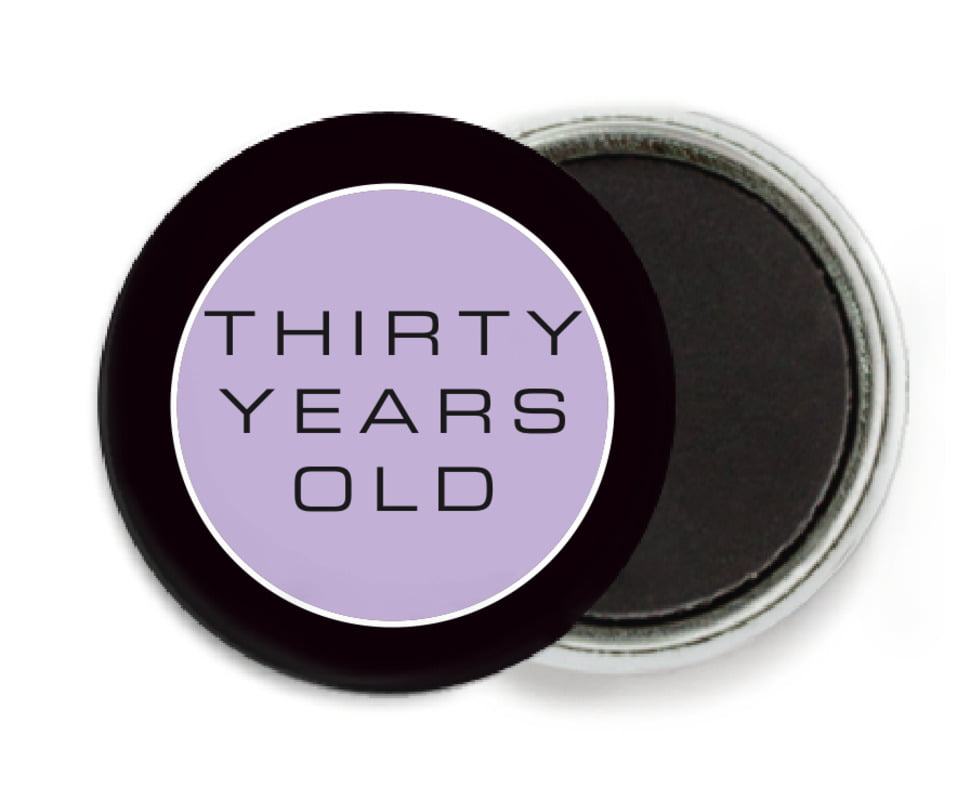 custom button magnets - lilac - fifth avenue (set of 6)